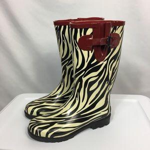 Stone Creek Steel Shank Animal Print Rain Boots
